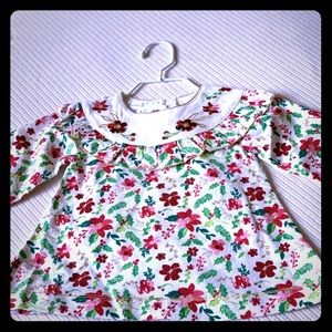 Mud Pie Red Floral Baby Dress 0-3 months NWT